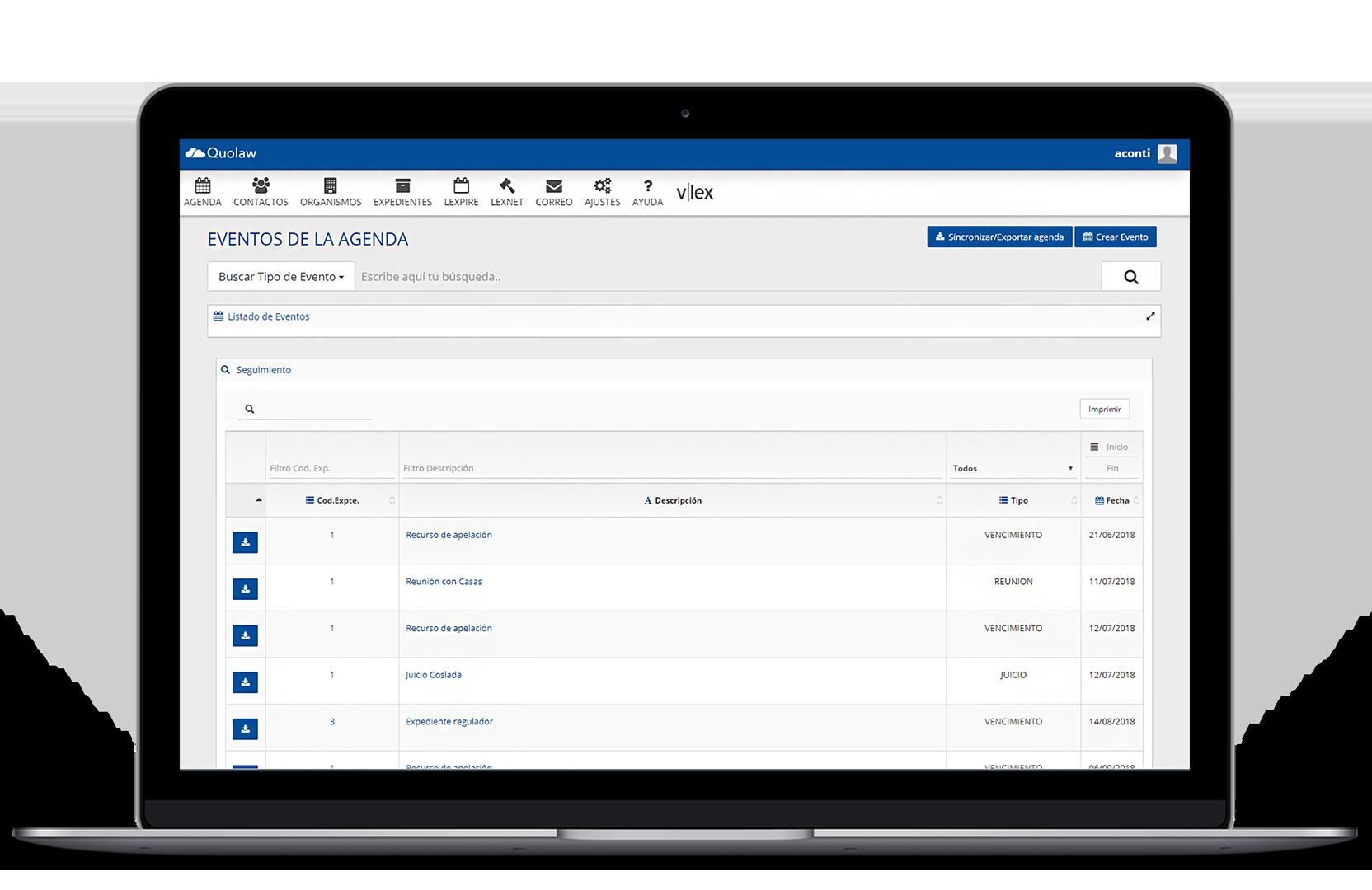 Quolaw gestión de despachos online